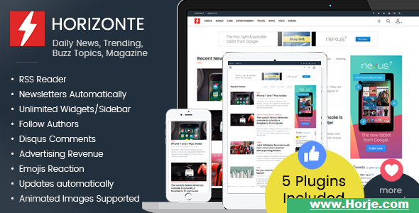 Horizonte – Daily News, Trending, Buzz Topics, Magazine PHP Script – Download Nulled