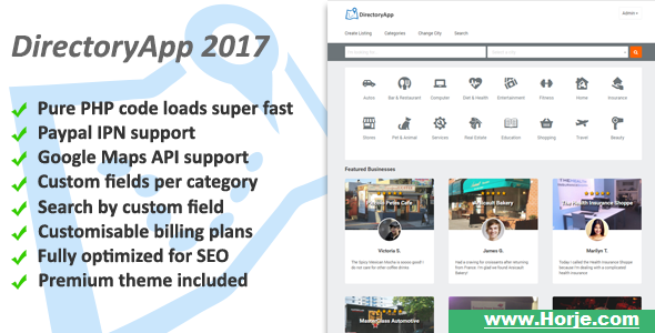 Directoryapp v1.08f – Business Directory PHP Script – Download Nulled
