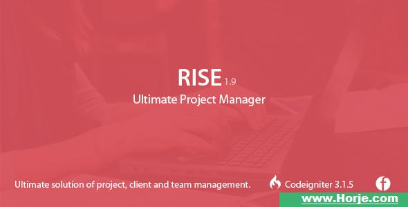 RISE v1.9 – Ultimate Project Manager PHP Script – Download Nulled