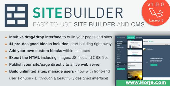 SiteBuilder Laravel v1.1.1 – Drag&Drop site builder and CMS PHP Script – Download Nulled