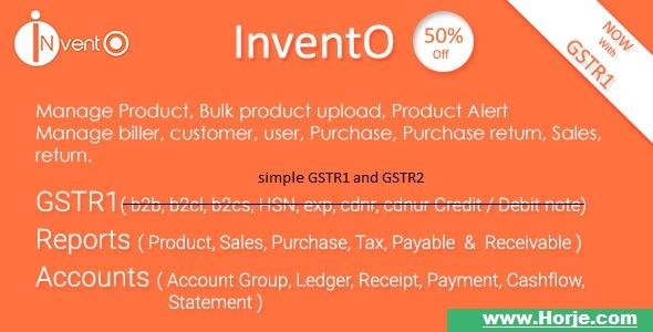 InventO v2.1 – Accounting | Billing | Inventory (GST Compliance with GSTR1 & GSTR2 Integrated) PHP Script – Download Nulled