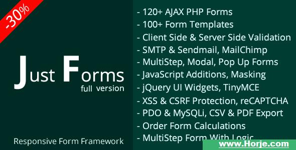 Just Forms full v2.4 PHP Script – Download Nulled