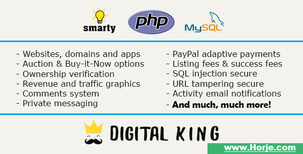 Digital King – Website, domain and app marketplace PHP Script – Download Nulled
