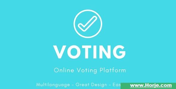 Voting – Online Voting Platform PHP Script – Download Nulled