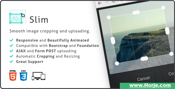 Slim Image Cropper, Responsive Uploading and Ratio Cropping Plugin v4.19.0 PHP Script – Download Nulled