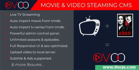 OVOO v2.5.7 – Movie & Video Streaming CMS with Unlimited TV-Series PHP Script – Download Nulled