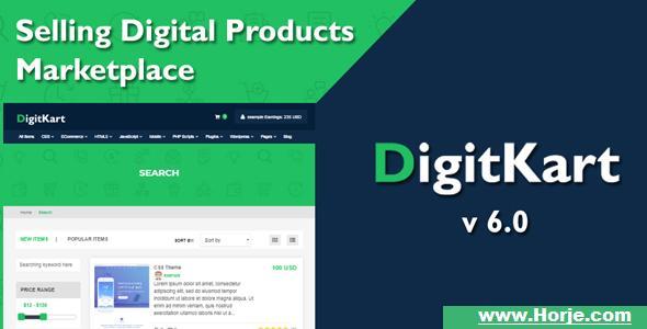 DigitKart v6.0 – Multivendor Digital Products Marketplace PHP Script – Download Nulled