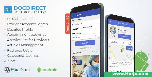 DocDirect App v1.0.1 – Doctor Directory Android Native App Mobile App – Download Nulled