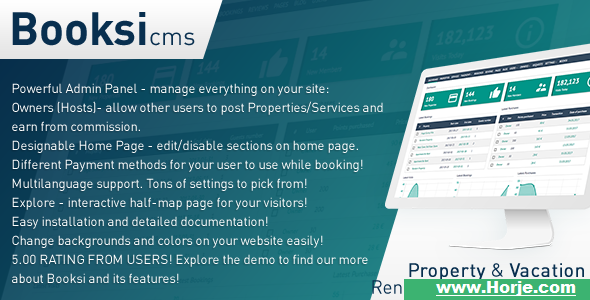 Booksi v1.3 – Property & Vacation Rental Management CMS PHP Script – Download Nulled