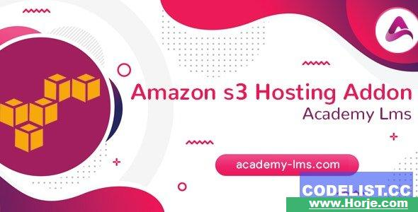 Academy LMS Amazon S3 Hosting Addon v1.0