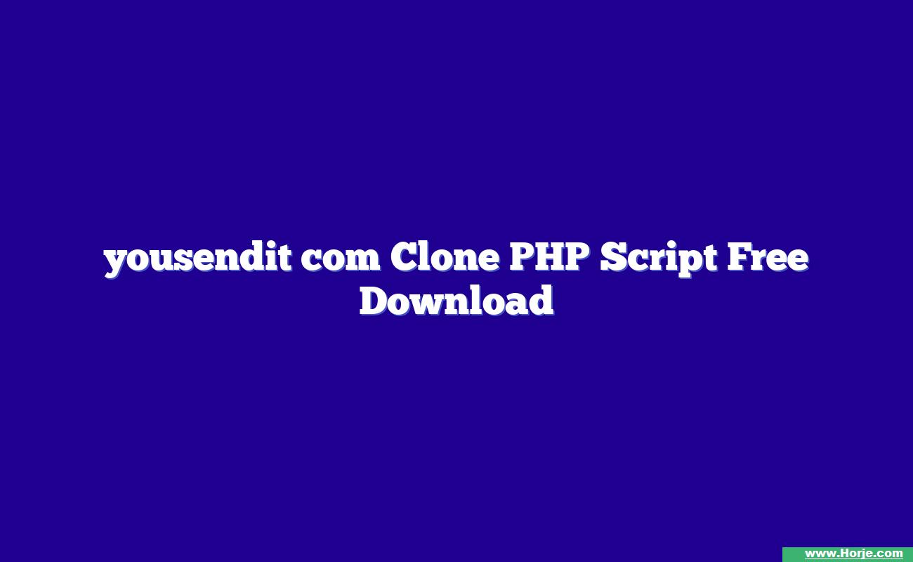 yousendit com Clone PHP Script Free Download