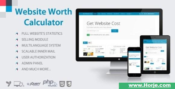 Website Value Calculate PHP Script Free Download